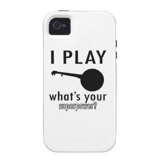 Diseños frescos del instrumento musical del banjo iPhone 4/4S carcasa