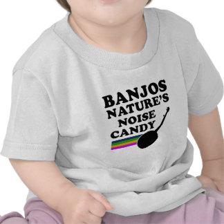 Diseños frescos del instrumento musical del BANJO Camisetas