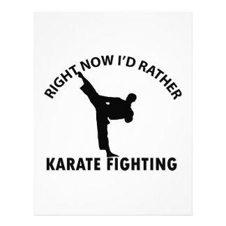 diseños frescos del karate