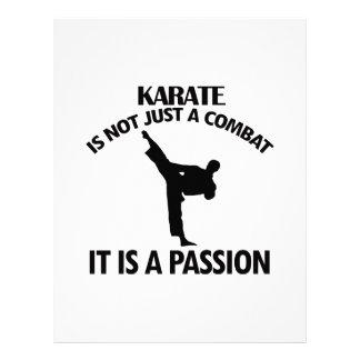 DISEÑOS frescos del karate Membretes Personalizados