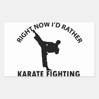 diseños frescos del karate pegatina rectangular