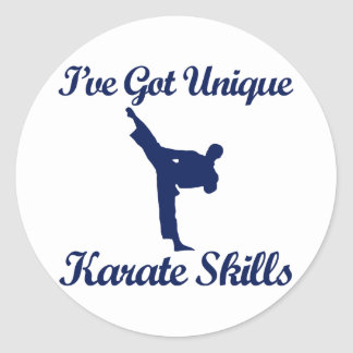 diseños frescos del karate pegatina redonda