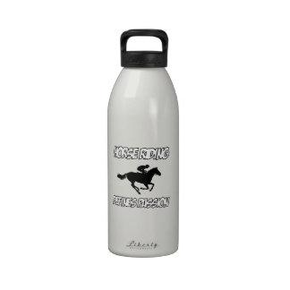 Diseños frescos del montar a caballo botella de beber