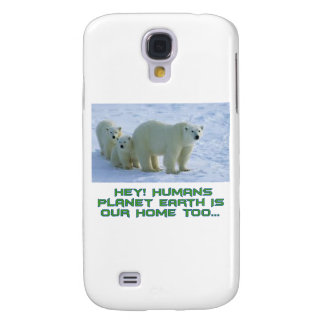 diseños frescos del oso polar carcasa para galaxy s4