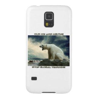 diseños frescos del OSO POLAR Y del CALENTAMIENTO Carcasa Galaxy S5