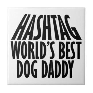 diseños frescos del papá del perro azulejo cuadrado pequeño