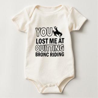 Diseños frescos del paseo del bronc trajes de bebé