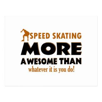 Diseños frescos del patinaje de velocidad postales