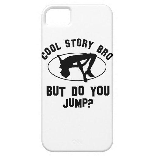 diseños frescos del salto de altura iPhone 5 fundas