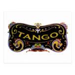 ¡Diseños frescos del tango! Tarjetas Postales