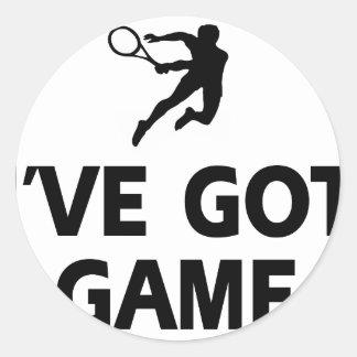 diseños frescos del tenis pegatina redonda