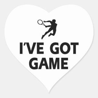 diseños frescos del tenis pegatina en forma de corazón