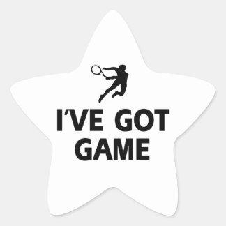 diseños frescos del tenis pegatina en forma de estrella