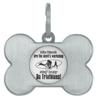 Diseños frescos del triathlon placas de mascota