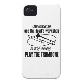 Diseños frescos del Trombone iPhone 4 Case-Mate Coberturas