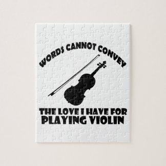 diseños frescos del violín rompecabezas