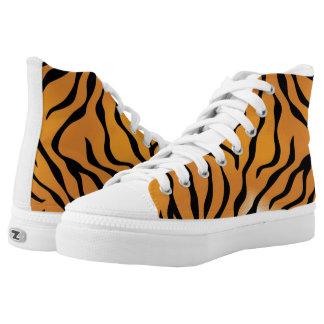 diseños frescos del zapato de la piel del tigre zapatillas