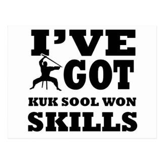 Diseños ganados Sool de los artes marciales de Kuk Postales