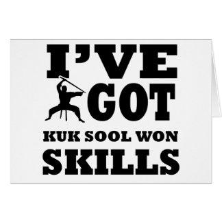 Diseños ganados Sool de los artes marciales de Kuk Tarjeta De Felicitación