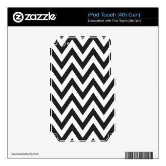 Diseños geométricos blancos del arte del negro del calcomanías para iPod touch 4G