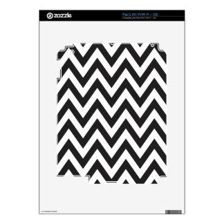 Diseños geométricos blancos del arte del negro del iPad 2 calcomanía