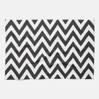 Diseños geométricos blancos del arte del negro del toallas de cocina