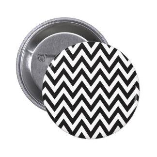 Diseños geométricos blancos del arte del negro del pin redondo de 2 pulgadas