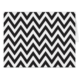 Diseños geométricos blancos del arte del negro del tarjeta de felicitación grande