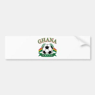 Diseños ghaneses del fútbol etiqueta de parachoque