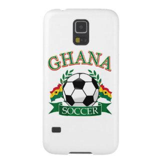 Diseños ghaneses del fútbol carcasas para galaxy s5