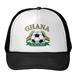 Diseños ghaneses del fútbol gorro