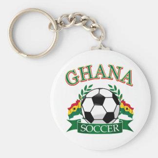Diseños ghaneses del fútbol llavero redondo tipo pin