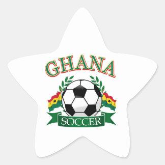 Diseños ghaneses del fútbol pegatina en forma de estrella
