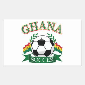 Diseños ghaneses del fútbol pegatina rectangular