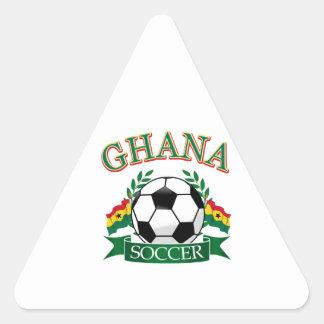 Diseños ghaneses del fútbol pegatina triangular
