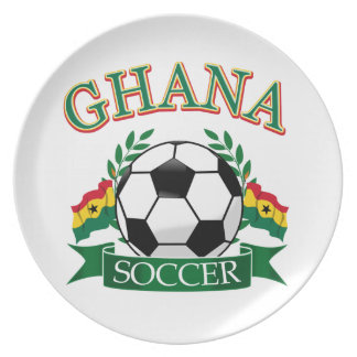 Diseños ghaneses del fútbol platos