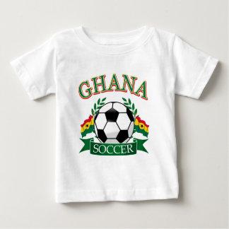 Diseños ghaneses del fútbol playera de bebé