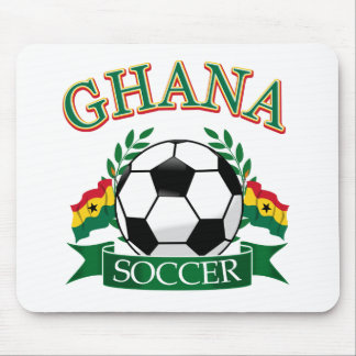 Diseños ghaneses del fútbol alfombrilla de ratón