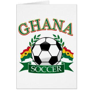 Diseños ghaneses del fútbol tarjetas