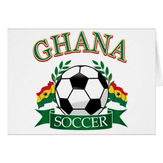 Diseños ghaneses del fútbol tarjeta de felicitación