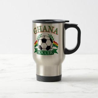 Diseños ghaneses del fútbol taza de viaje