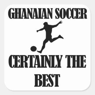 diseños ghaneses frescos del fútbol pegatina cuadrada
