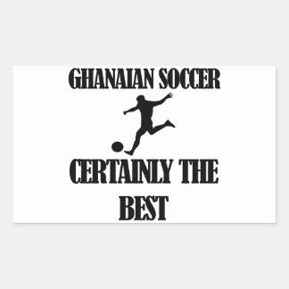 diseños ghaneses frescos del fútbol pegatina rectangular