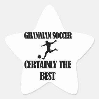 diseños ghaneses frescos del fútbol pegatina en forma de estrella