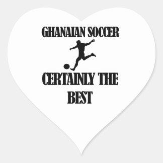 diseños ghaneses frescos del fútbol pegatina en forma de corazón