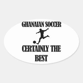 diseños ghaneses frescos del fútbol pegatina ovalada