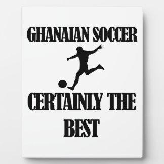 diseños ghaneses frescos del fútbol placas para mostrar