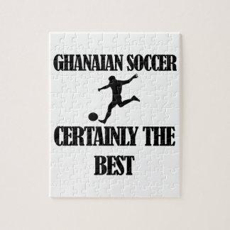 diseños ghaneses frescos del fútbol puzzle