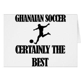 diseños ghaneses frescos del fútbol tarjeta de felicitación