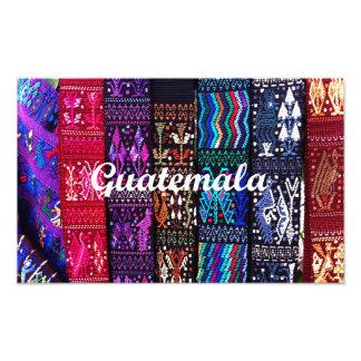 Diseños guatemaltecos de la materia textil fotografías